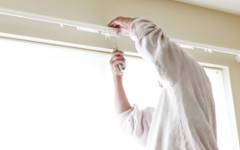 Service install window treatments